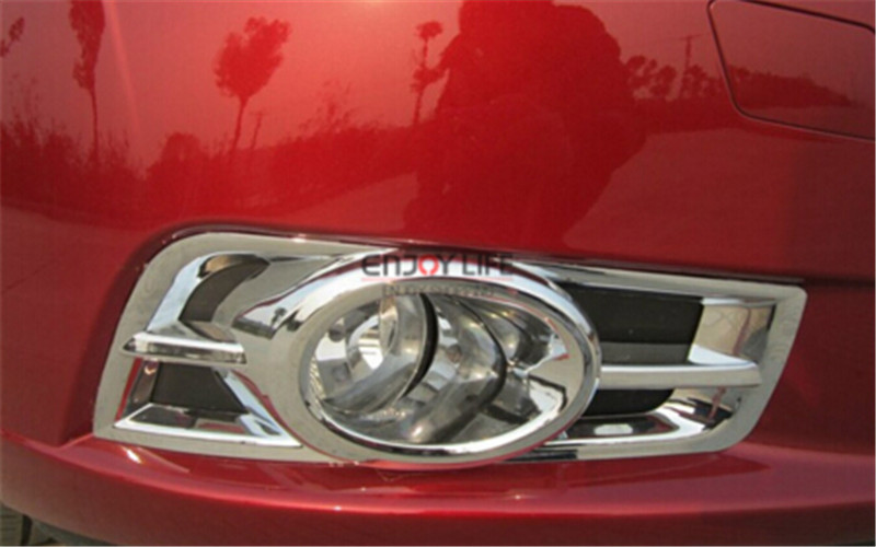 2pcs / Set ABS Chrome Head Front Fog Light Lamp Full Cover Trim Bumper For Chevrolet Chevy Cruze 2009 - 2014 Car Styling