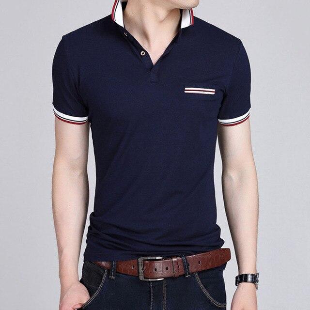 Men Cotton Polo Shirt Short Sleeve Solid Polos Wear Mens Brand Polo Shirts Classic Slim Poloshirt Men