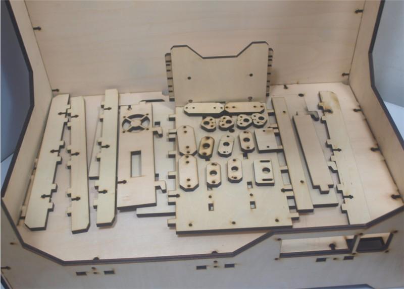 DIY-Reprap-extended-volume-Unofficial-Replicator-XL-V1-5-3D-printer-laser-cut-wooden-frame-kit (2)