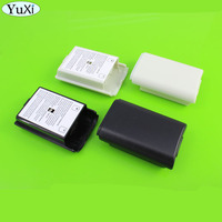 YuXi Battery Cover Case for Xbox 360 Controller Black Plastic Battery Pack Cover Case Shell