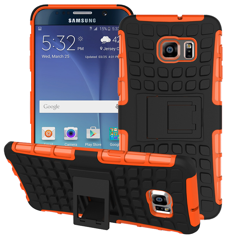 Etui Armor Cases For Samsung Galaxy S3 S4 S5 mini S6 edge Plus S7 edge Plus Hard Silicone phone Shell Unique Capinha Grip Rugged