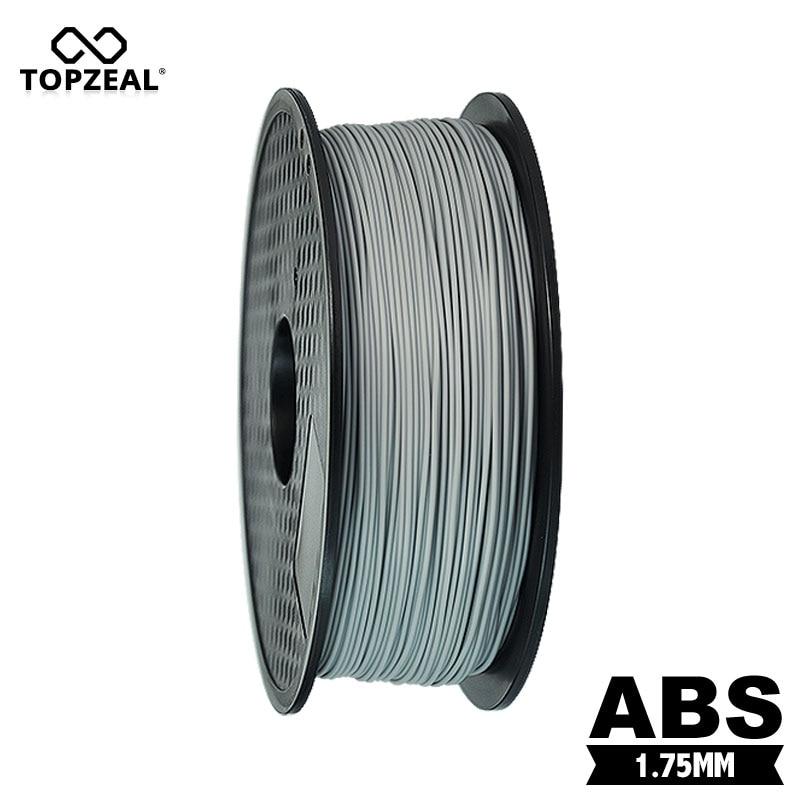 TOPZEAL 3D Printer Filament ABS 1 75mm 1KG 3D Plastic Filament ABS Filament 3D Printer Material