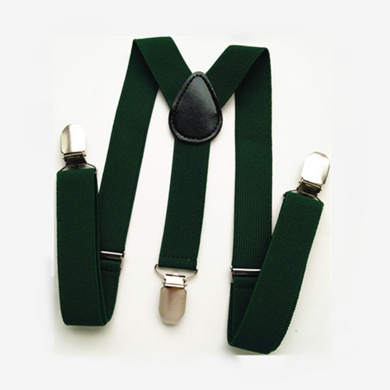 BD003- Fashion Green Series Unisex Baby Suspenders 3 High Quality Clips On Adult Suspender Y Back Kids Bracs