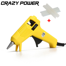 CRAZY POWER 20W Hot Melt Glue Gun High Temp Heater Graft Repair Heat Adhesives Pistol Tools With 10 Pcs Glue Sticks AT2176
