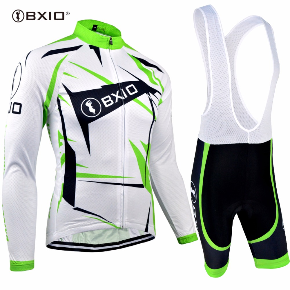 Bxio Long Sleeve Cycling Sets Pro Bicycle Jerseys Mountain Bike Clothing Maillot Ciclismo Italie Cuissard Cycliste Equipe 031 nuckily quick dry anti uv long sleeve bicycle jerseys sets windproof cycling clothing gel padds bike pants cycling jerseys sets