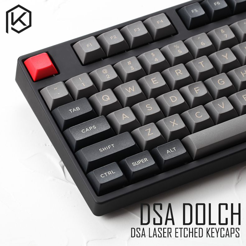 dsa pbt top Printed legends dolch Keycaps Laser Etched gh60 poker2 xd64 87 104 xd75 xd96