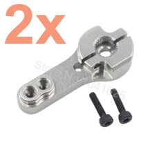 2 pcs CNC Alloy Aluminum Servo Horn 25T For 1 8 1 10 Scale RC Model