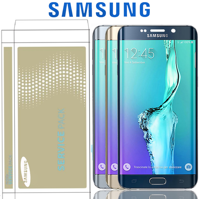 Original 5 7 Replacement With Frame For Samsung Galaxy S6 Edge Plus G928 G928F LCD Display