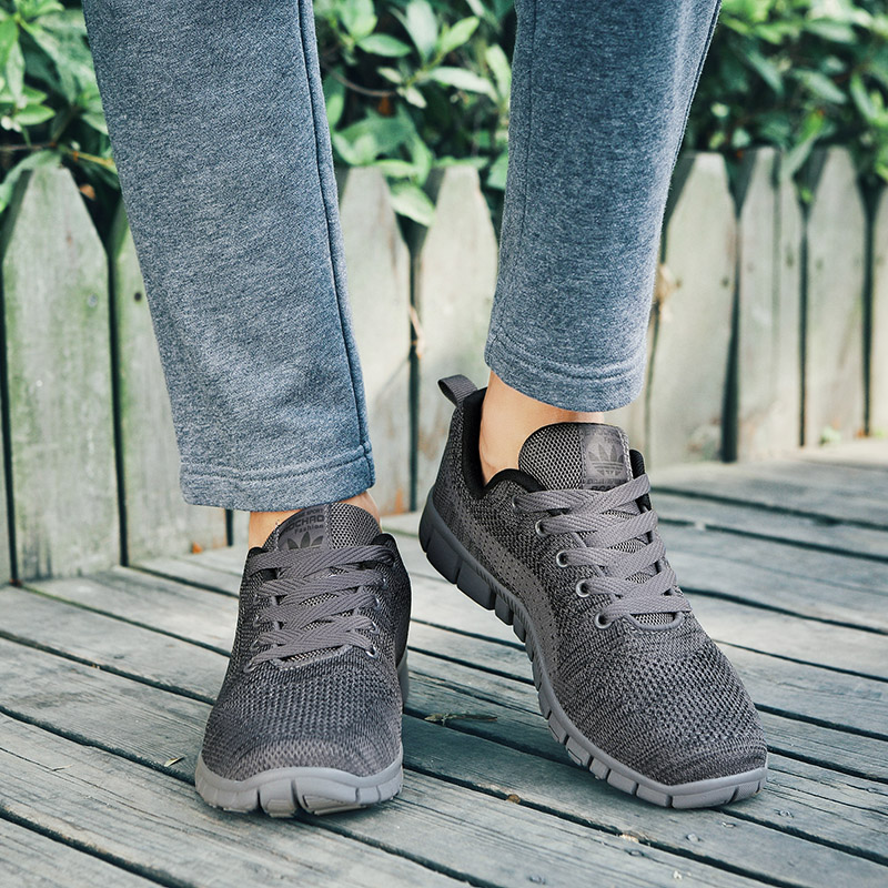 De Black Caminhada Respirável Confortável gray Homens Preguiçosos Casuais Sapatos Novos Malha up Lace 2018 Verão 5 Leve RAUEEv