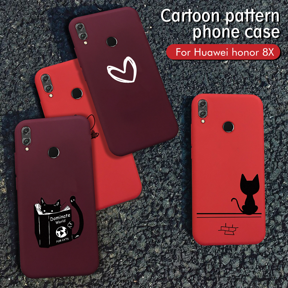 Wine Red Heart <font><b>Case</b></font> For <font><b>Huawei</b></font> <font><b>Honor</b></font> 8X 10i <font><b>20i</b></font> 20 Pro 10 9 Lite P Smart 2019 P30 P20 Pro Mate 20 Lite Nova 5 Pro 5i TPU Cover image