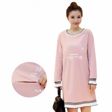 New 2016 Autumn Maternity Dresses Nursing Dress Breastfeeding Clothes for Pregnant Women Mothers Gravidas Lactation Vestdios