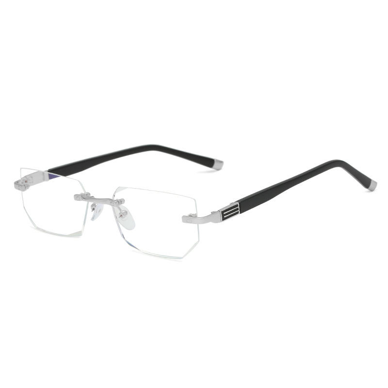 HD Quality Diamond Cutting Reading Glasses Anti Blue Rray Crystal Rimless Diopter Glasses Presbyopic Eyewear 1 0 4 0 Hyperopia in Women 39 s Reading Glasses from Apparel Accessories