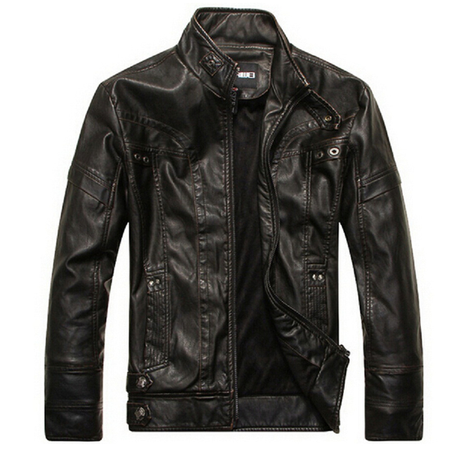 afee8015a3e New Brand motorcycle leather jackets men