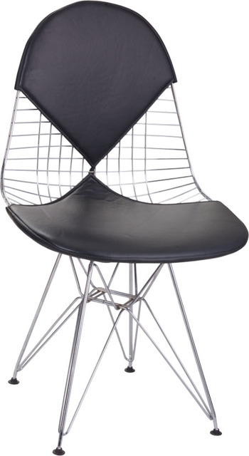 Modern Design Loft Style Metal Steel Wire Chair, Padded Soft Seat Wire Chair,  Popular