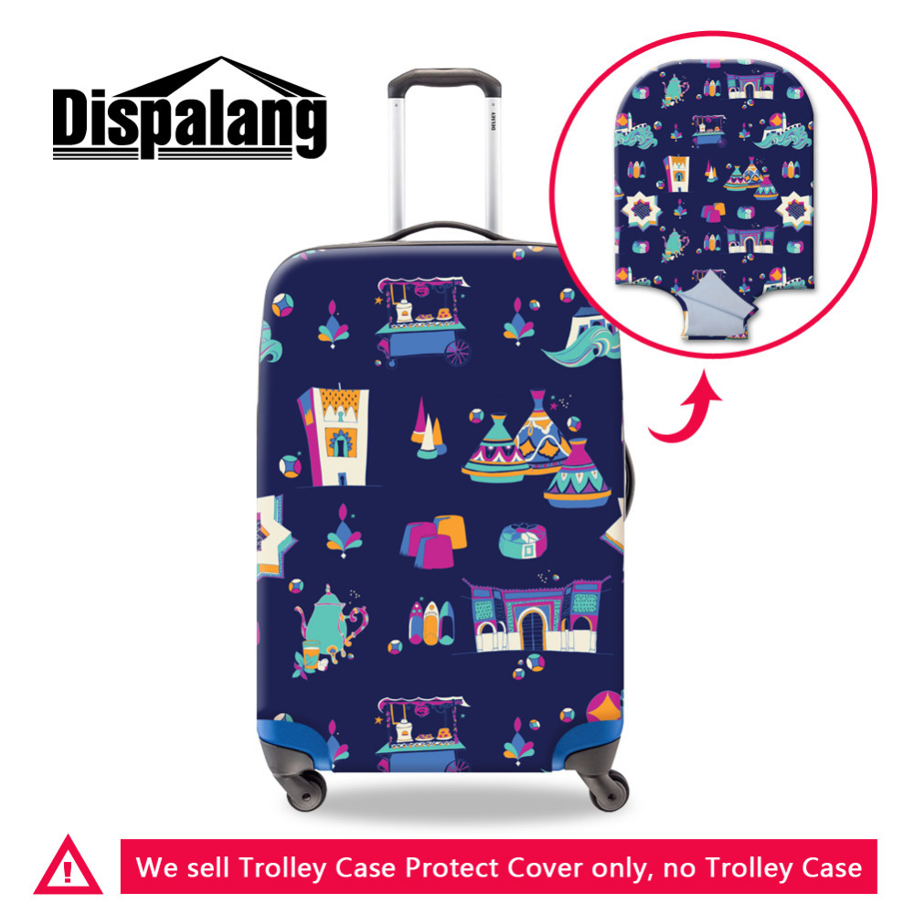 Dispalang Giraffe Print Elastic Waterproof Luggage Protective Cover For 18-30Inch Suitcase Travel Accessories Trolley Case Cover