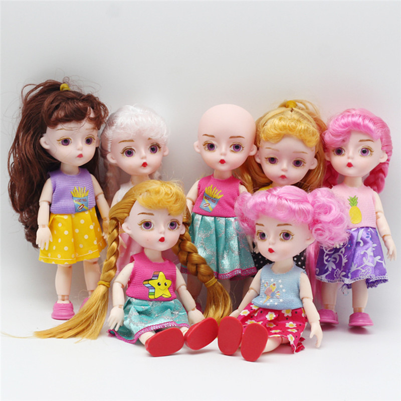 <font><b>15</b></font> CM BJD Dolls Toys 13 Joints Lovely Original <font><b>Girls</b></font> Princess Dolls 1/12 Body Joints Active <font><b>Dress</b></font> Up Dolls <font><b>For</b></font> Kids Birthday Toy image