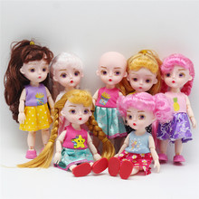 15 CM BJD Dolls Toys 13 Joints Lovely Original Girls Princess 1/12 Body Active Dress Up For Kids Birthday Toy