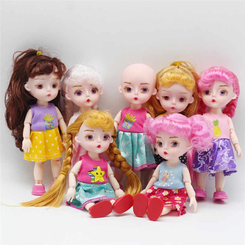 Juntas de 15 CENTÍMETROS BJD Bonecas Brinquedos 13 Original Adorável Meninas Princesa Vestir Bonecas Bonecas 1/12 Articulações Do Corpo Ativo Para aniversário dos miúdos Brinquedo
