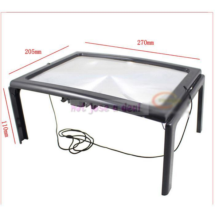 Desk Type 3X Magnifying Glass Magnifier With LED Light For Reading Sewing Knitting