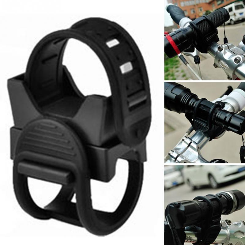 New Adjustable Belt 360 Degree Rotation Universal Bicycle Headlight Holder Flashlight Rack MTB Bike Light Mount Bracket Clip