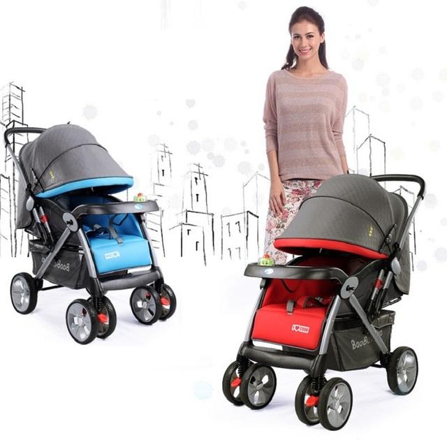 Novo carrinho de Bebê de Quatro Rodas de Embarque Buggy Carrinho De Criança Carrinho De Bebê Dobrável Carrinho De Criança Carrinho de Bebê Do Carro 0-3 anos