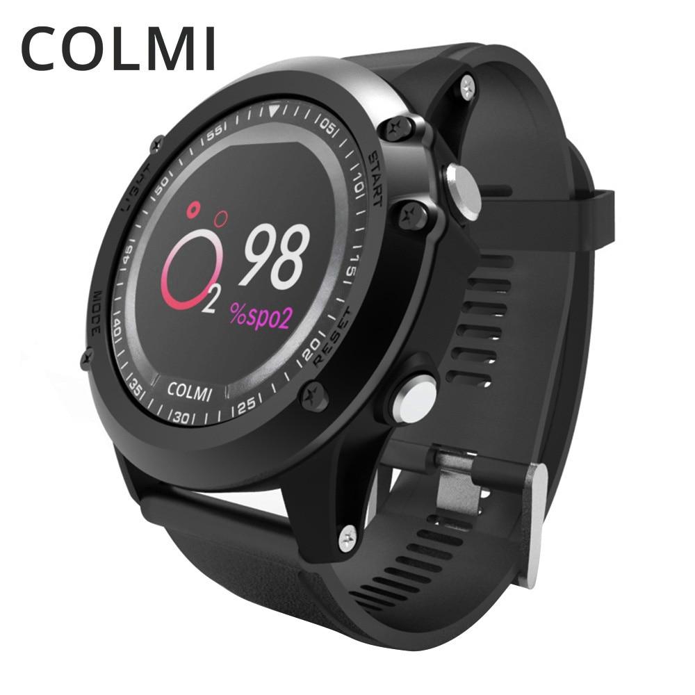 COLMI T2 IP68 Waterproof Heart Rate Monitor Push Message Call Reminder Clock Bluetooth 4.0 Brim Men Sport Smart Watch цена 2017