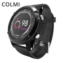 COLMI T2 IP68 Waterproof Heart Rate Monitor Push Message Call Reminder Clock Bluetooth 4.0 Brim Men Sport Smart Watch