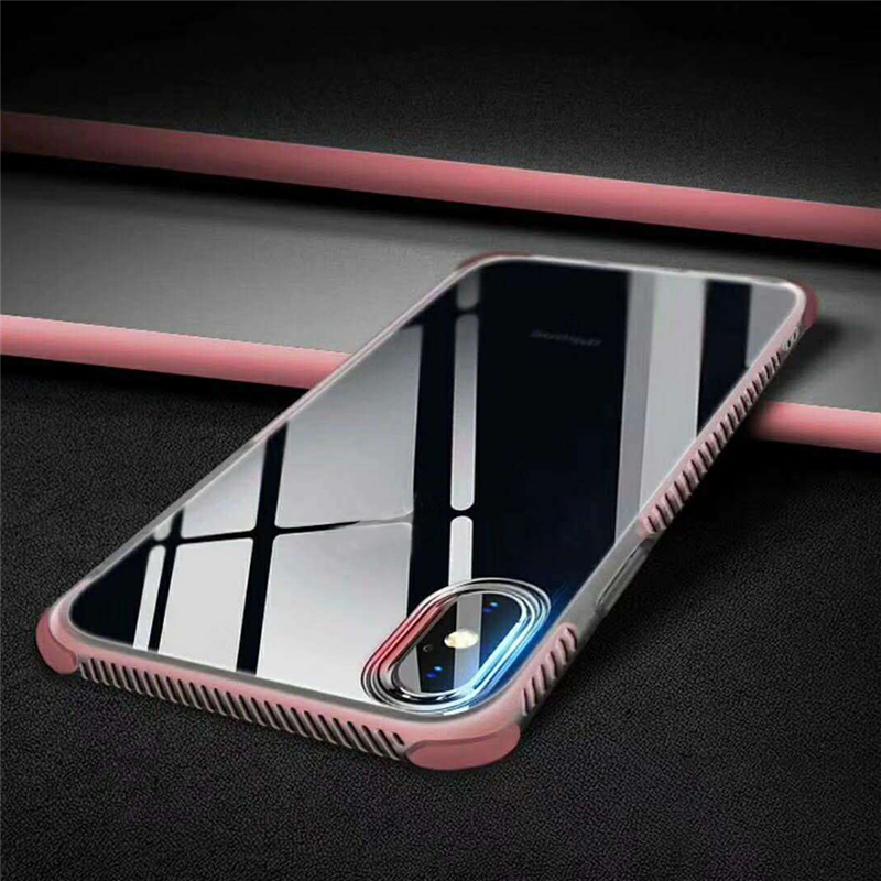 Phone - Strong Protection Four Corner Anti Dropping Case Protective Cover Transparent Tpu Soft Shell FOR Iphone 11