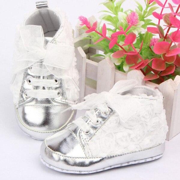 35ee09287 Rose Flower Lace Baby Kids Shoes Soft Bottom Prewalker Toddler Shoes ...