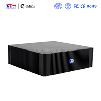 Popular Fashionable Desktop Computer Case Mid Tower Mini ITX Self Powered Aluminum HTPC Media Player Case