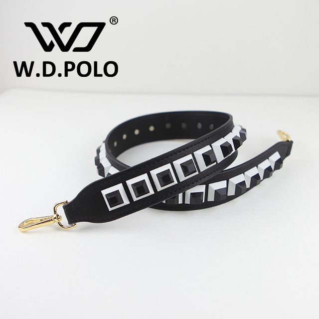 W.D.POLO Strapper you rivet handbags belts women bags strap women bag accessory bags parts Cow leather monster bag belts M2278