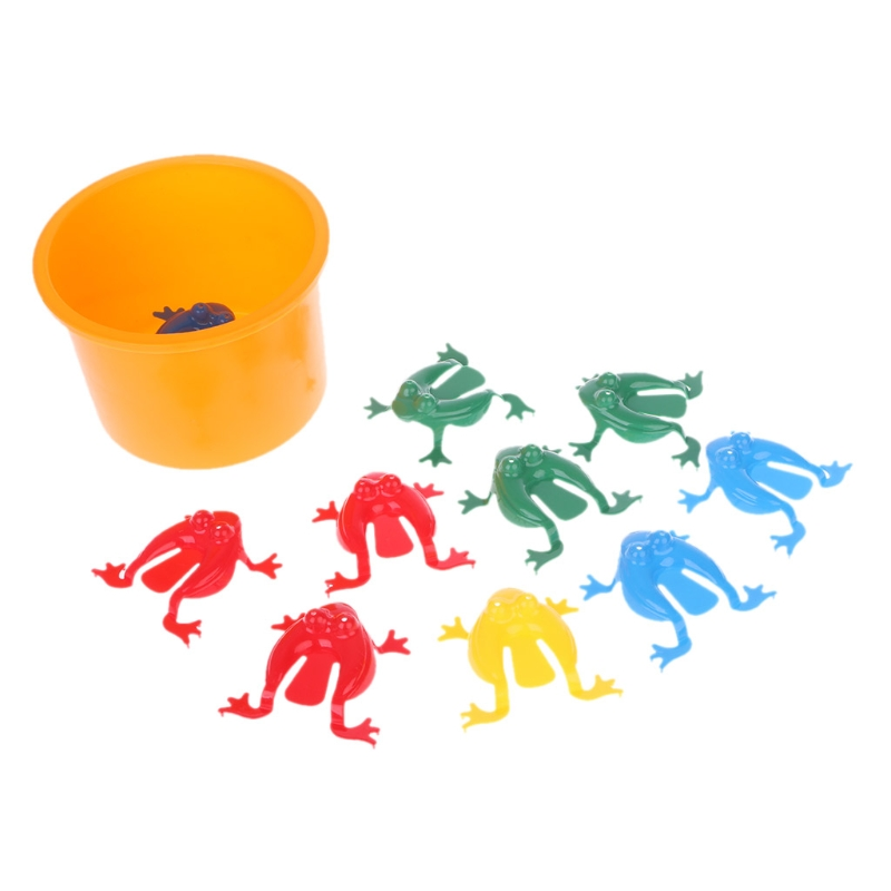 Novelty 10pcs Jumping Frogs Assorted Hopper Game Baby Toy Action Toy Figures