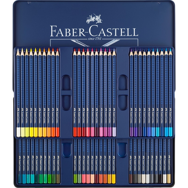 цена на FABER CASTELL Blue iron box professional 60 color water soluble color pencil art grade art dedicated color lead