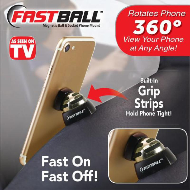 Universal 360 Degree Car Dashboard Cellphone Holder As Seen On TV Fastball Magnetic Car Cell Phone Mount//Holder by BulbHead Swivel to Perfect Viewing Position