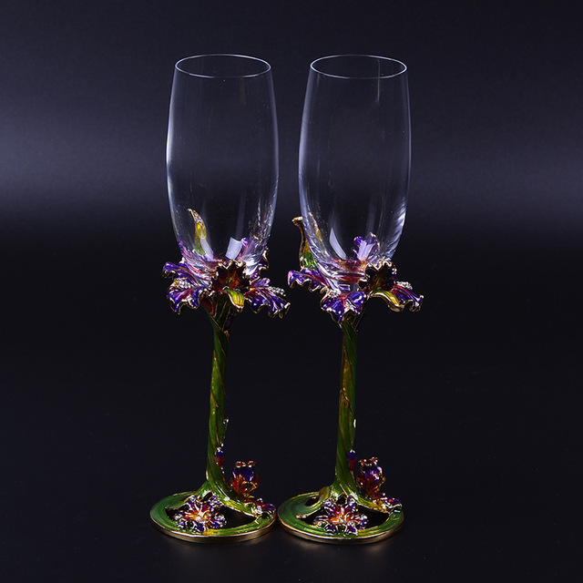 Top Quality Creative Gifts 2pcs Set Personalized Wedding Gles Cup Champagne Red Wine Bride Groom