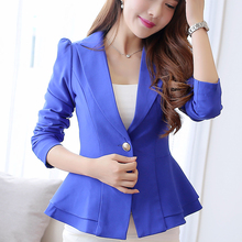Women Blazer Office Lady Blazers New 2018 Autumn Winter Slim Candy Colors Jackets Suit Casual