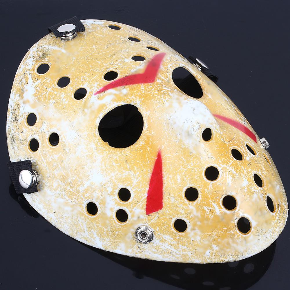 Halloween Hockey Masker.Cosplay Party Vintage Halloween Masks Jason Freddy Hockey Mask Delicated Thick Pvc Costume Masquerade Masque With Elastic Band In Party Masks From