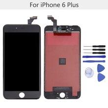 """1 stücke 5,5 """"lcd-bildschirm ersatz mit werkzeug kits für iphone 6 plus lcd display touchscreen digitizer assembly kostenloser versand"""