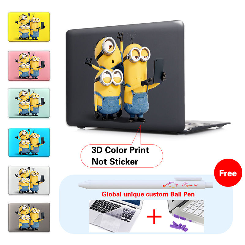 Minions Take Photo Insert Black Fashion Print Cover Case For Apple Macbook Pro Retina 13 15