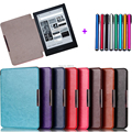 pu leather cover case For kobo aura h2o 2014 ereader+stylus pen+film