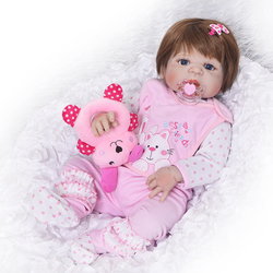 2017 Lovely New Reborn Baby Dolls For Sale Christmas Gifts Realistic Full Vinyl Girl Baby Doll Menina Brinquedos 23 inch bebe