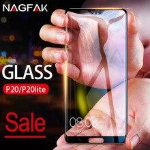 NAGFAK 3D Pieno Curvo Vetro Temperato Per Huawei P20 Lite P20 Pro Lite Protezione Dello Schermo Pellicola Per Huawei P20 Lite copertura completa di Vetro