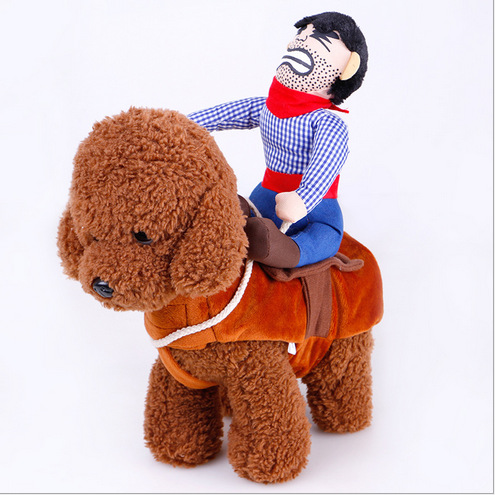 Funny Horse Riding Costume Puppet Knight Personality Dog Clothes Puppy Cat Cosplay Clothing for Teddy Pet Products Drop Shipping