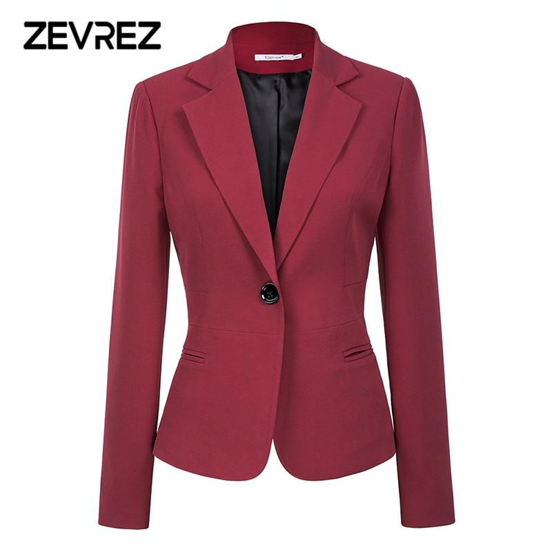 Wine Red Black Women Blazers And Jackets New Autumn Fashion Single Button Blazer Femenino Office Ladies Blazer Coat Zevrez