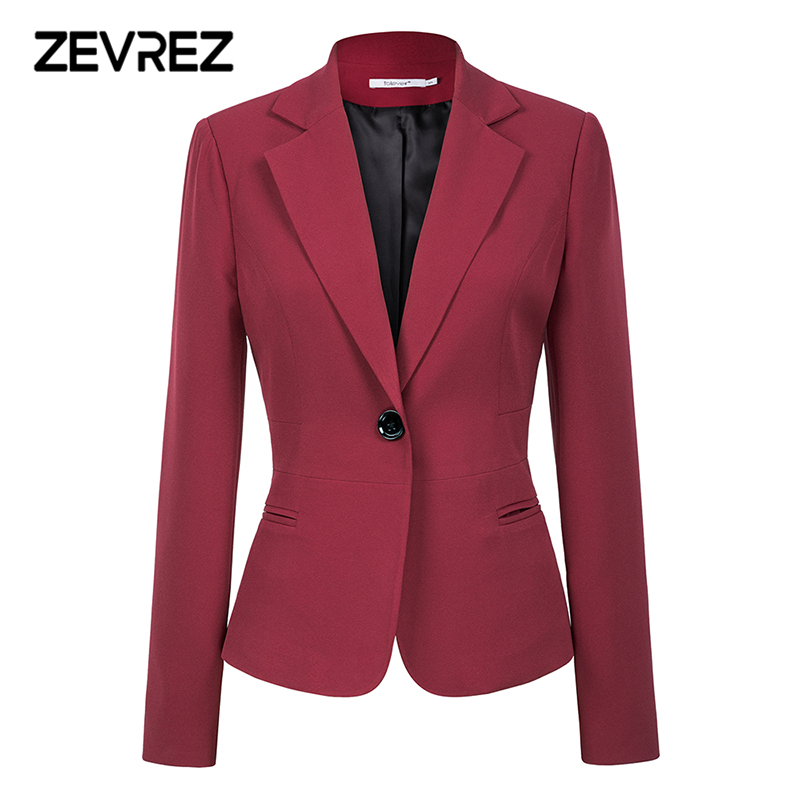 Wine Purple Black Girls Blazers And Jackets 2018 New Autumn Trend Single Button Blazer Femenino Workplace Girls Blazer Coat Zevrez