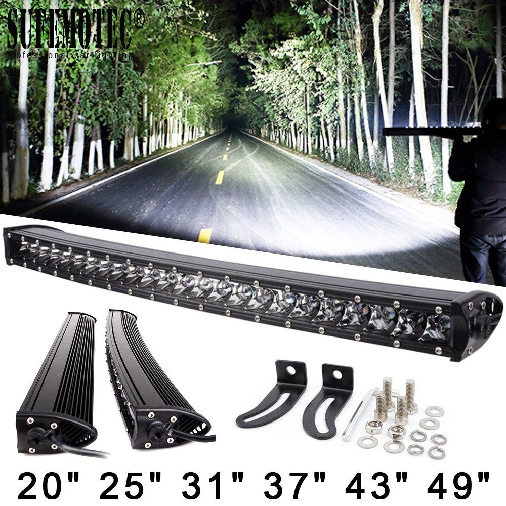 3D 120 w 150 w 180 w 240 w Super Mince Simple Rangée Courbe Led Light Bar Combo Poutres Pour 4x4 Offroad SUV 4WD ATV Conduite Lampes de Travail