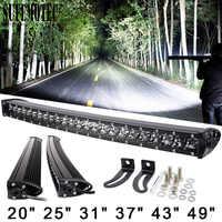 3D 120W 150W 180W 240W Super Schlank Einreihige Curved Led Light Bar Combo Balken Für 4x4 Offroad SUV 4WD ATV Fahren Arbeiten Lichter