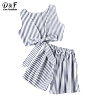 Dotfashion-Striped-Women-Two-Piece-Set-Bow-Tie-Open-Back-Knotted-Crop-Tank-Top-With-Shorts-Backless-2017-Sexy-Women-Outfit-1