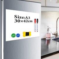 YIBAI Magnetische board kids A3 29.7*42 cm Flexibele Koelkast Koelkast Magnetische Whiteboard Tekening Message Board Met Gratis Gift