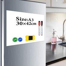 YIBAI Manyetik tahta çocuklar A3 29.7*42 cm Esnek Buzdolabı Buzdolabı Manyetik Beyaz Tahta Çizim Mesaj Panosu Ücretsiz Hediye Ile